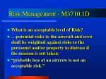 risk management m3710 1d