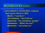 roadblocks cont1