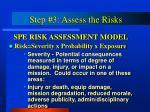 step 3 assess the risks