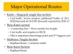 major operational routes