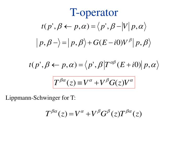 T-operator