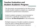 teacher evaluation and student academic progress