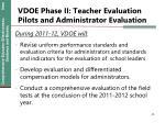 vdoe phase ii teacher evaluation pilots and administrator evaluation