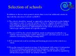 selection of schools1
