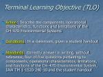 terminal learning objective tlo