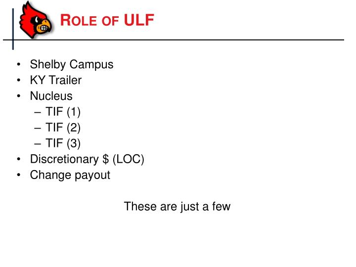 Role of ULF