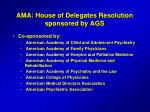 ama house of delegates resolution sponsored by ags