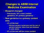 changes to abim internal medicine examination