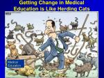 getting change in medical education is like herding cats