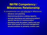 im fm competency milestones relationship