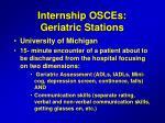 internship osces geriatric stations
