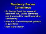 residency review committees