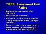 tireg assessment tool rating