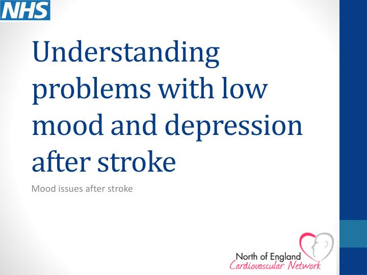 understanding problems with low mood and depression after stroke n.