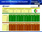 chep environmental calculator
