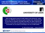 chep environmental calculator validation endorsement leeds university
