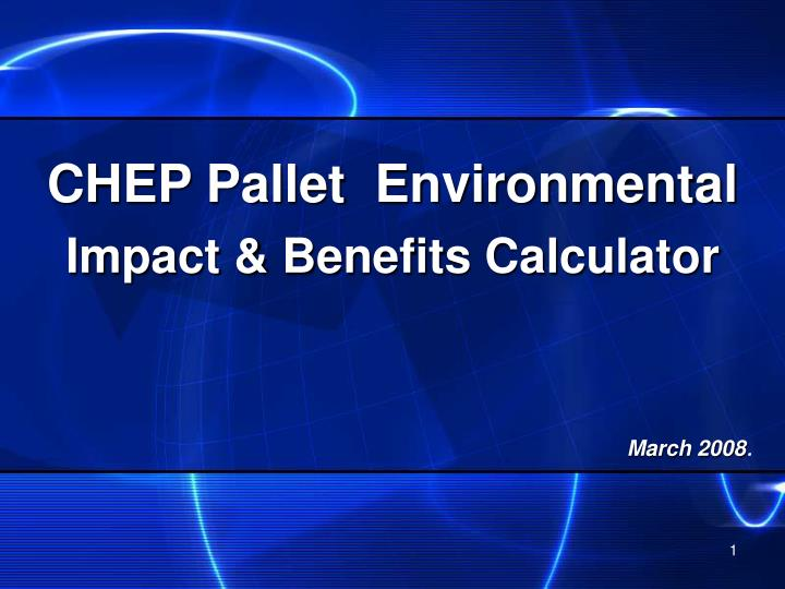 chep pallet environmental impact benefits calculator n.