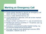 marking an emergency call
