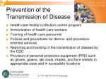 prevention of the transmission of disease