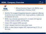 bsnl company overview