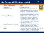 our partner vmc systems limited