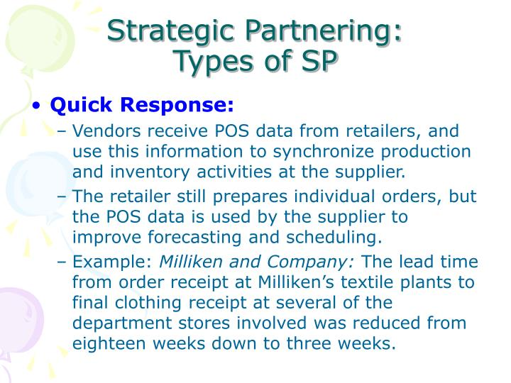 strategic partnering types of sp n.