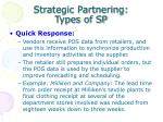 strategic partnering types of sp