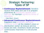 strategic partnering types of sp1