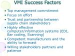 vmi success factors