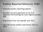publicly reported measures pqrs