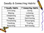 deadly connecting habits