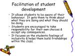 facilitation of student development2