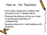 how to for teachers