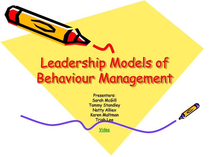leadership models of behaviour management n.