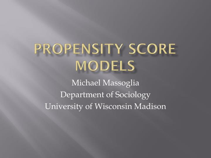 propensity score models n.