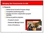 bringing the frameworks to life5