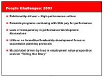 people challenges 2003