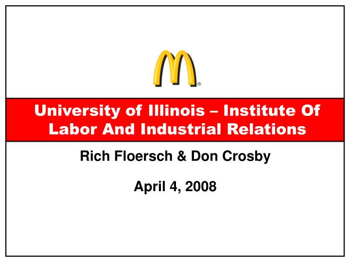 university of illinois institute of labor and industrial relations n.