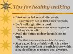 tips for healthy walking