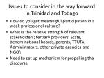 issues to consider in the way forward in trinidad and tobago1