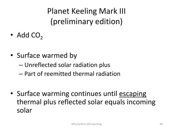 Planet Keeling Mark III
