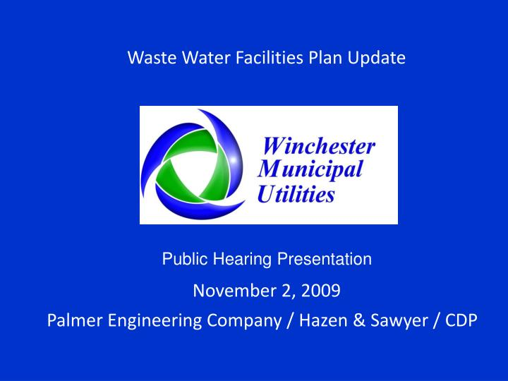 waste water facilities plan update n.