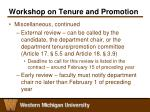 workshop on tenure and promotion11