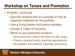 workshop on tenure and promotion6