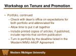 workshop on tenure and promotion7