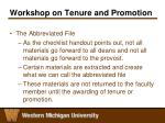 workshop on tenure and promotion8