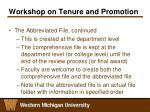 workshop on tenure and promotion9