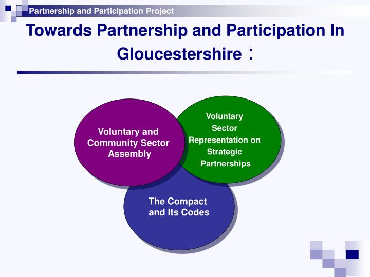 Towards partnership and participation in gloucestershire