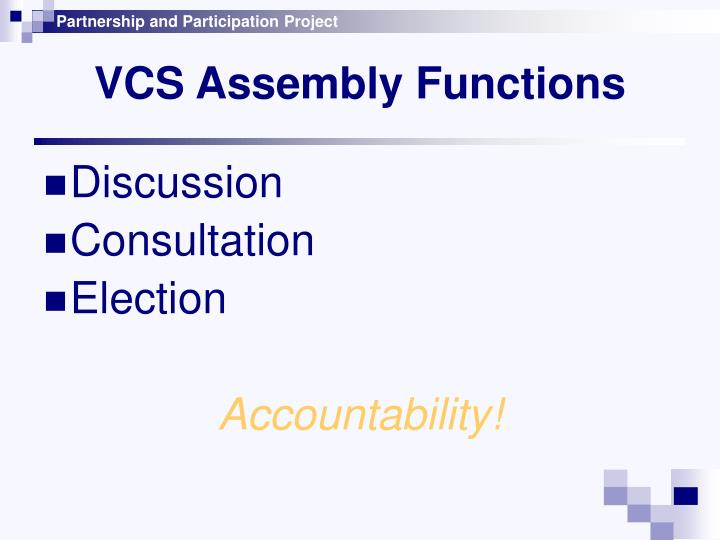 VCS Assembly Functions