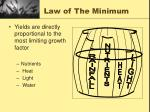 law of the minimum
